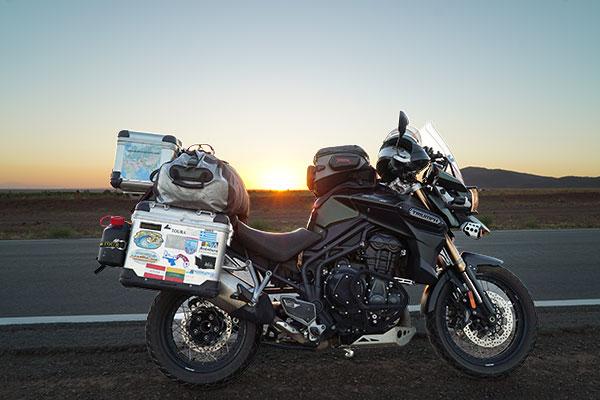 Fully loaded Triumph Explorer XC for Adventure Traveler