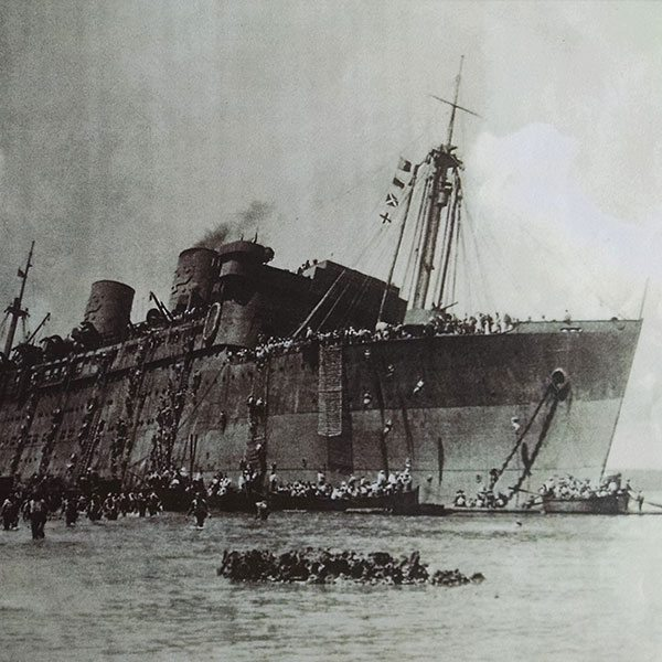 SS President Coolidge being evacuated
